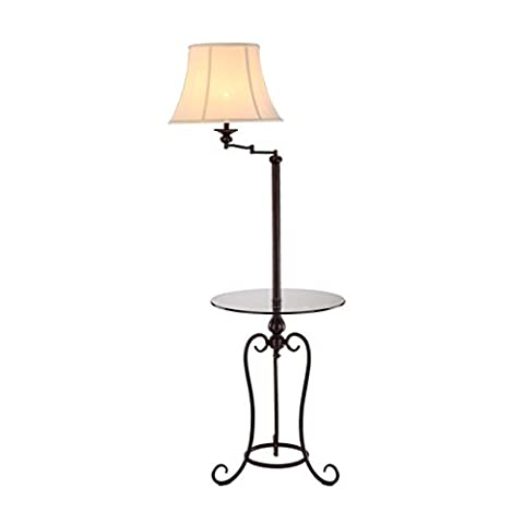 NAUY- Lampe de plancher américaine Nordic Simple Living Room Chambre à tablette verticale Table à table de chevet Lampe de thé
