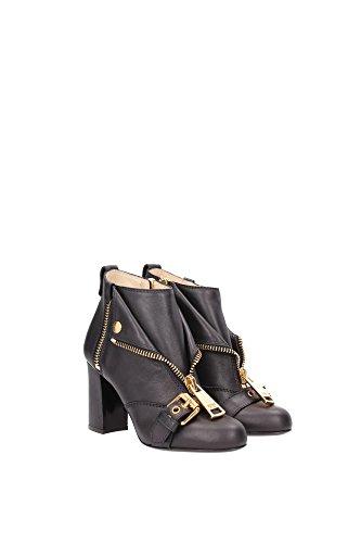 MA21068M1JMC0000 Moschino Chaussure mi montantes Femme Cuir Noir Noir