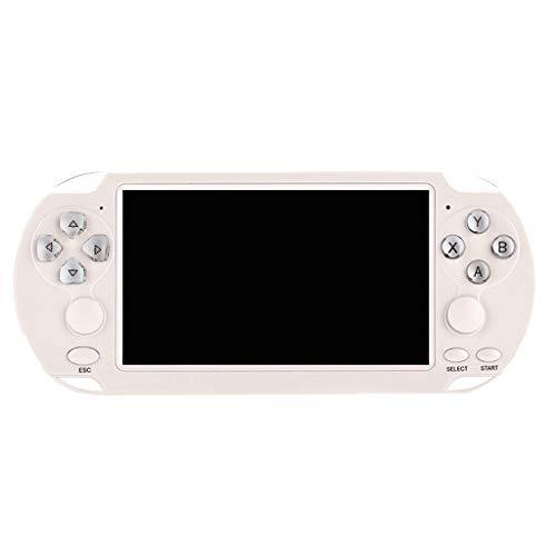 Happy event Handheld-Spielekonsolen -5,1-Zoll-Bildschirm Retro x9S Games Portable Rechargeable Video Game Handheld mit Spielen Weihnachten Geburtstagsgeschenke (Weiß) - Weiß Trackball