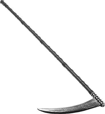 Smiffy's Adult Unisex Grim Reaper Scythe, Black, 4 ft., Adjustable Size, 24189