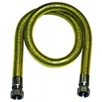 Tubo flessibile gas norma uni en 14800 in acciaio inossidabile per uso domestico cm.75 femminafemmina - Tubo Gas Plumbing