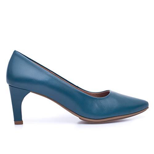 Stiletto - Zapato Vestir tacón Medio Azul