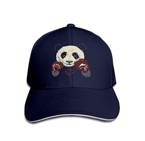 Xunulyn Comfortable Baseball Caps Panda Boxing Gloves Hand Drawn Bear