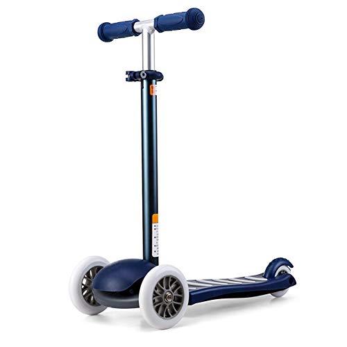 Kky scooter micro 3 ruote per bambini micro - mini deluxe bilanciere per bilancia tilt e giri -3 regolabile in altezza e staccabile, per 3-5 anni ragazzi/ragazze/bambini,white