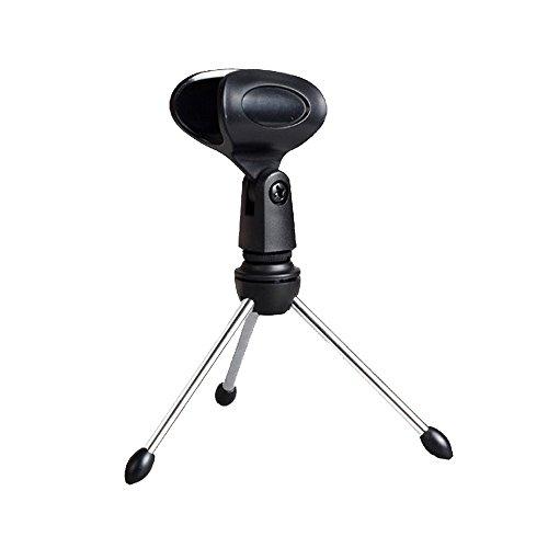 Merssavo Mic Mikrofon Stativ Ständer Zubehör Flexible Kunststoff Clamp Clip Halter Halterung