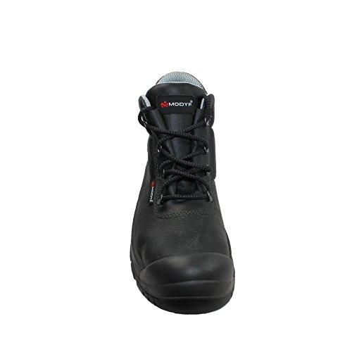 Modyf UK S3 SRC Sicherheitsschuhe Arbeitsschuhe Berufsschuhe Businessschuhe Trekkingschuhe hoch Schwarz Schwarz