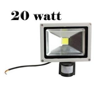 MWS LED Flutlicht mit Bewegungsmelder, Dämmerungssensor, Licht: Kaltweiß, 10W 20W 30W 50W