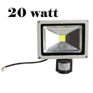 Projecteur à LED avec détecteur de mouvement et un consensus crépusculaire - 20 Watt
