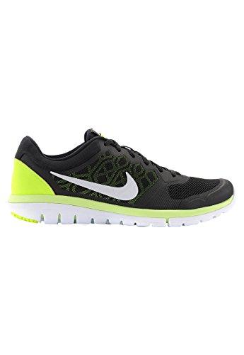 Nike Flex 2015 Rn Scarpe da ginnastica, Uomo Nero/Lime/Bianco