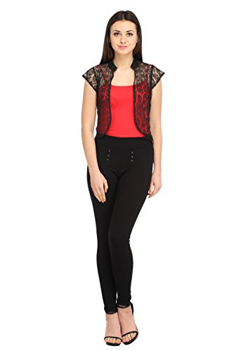 Cottinfab Women Net Black Outerwea (X-Large)