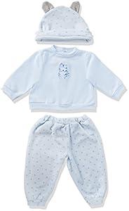 Paola Reina 58753- Conjunto de pijama para muñeca Marcos, color Azul, 60cm