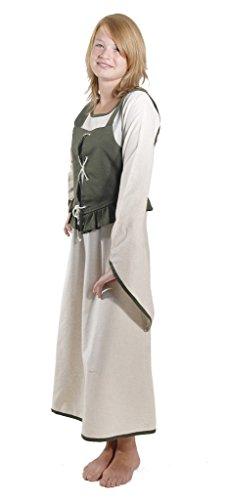 (Bäres Mittelalter Kleider kleine Maid - Kinder Marktkleid - Kinder Coleen für 9-11 jährige/natur /braun)