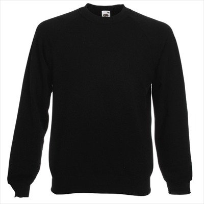 Fruit of the Loom - Sweatshirt 'Raglan Sweat' L,Black