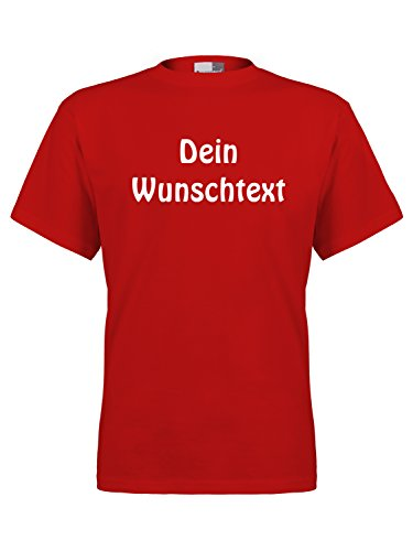 Personalisierter Neues T-shirt (FLOCKex Marken T-Shirt mit Wunschtext - Rot XL - Sprüche indivduell auf Das T-Shirt Drucken Lassen | Personalisierter Textildruck)