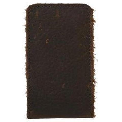 XtremeMac MicroWallet per iPod Nano, in pelle, effetto anticato, colore: marrone scuro