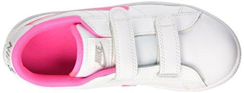 Nike Mädchen Tennis Classic (Psv) Tennisschuhe Blanc / Rosa / Grey (Blanc / Pink Pow-Wolf Grey)