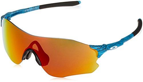 Oakley Men's Evzero Path (a) Non-Polarized Iridium Rectangular Sunglasses, AERO Grid Sky, 0 mm
