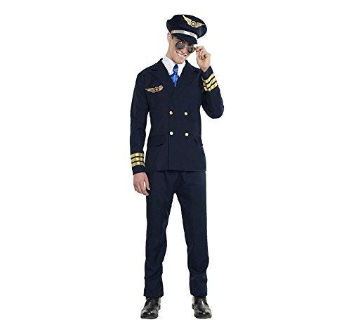 Imagen de disfraz de piloto de avión para hombre