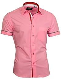 Ferlucci Herren Hemd Gepunktet Puglia Slim Fit Blau