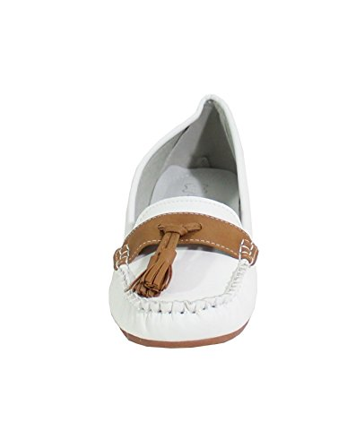 By Shoes Damen Ballerinas Weiß