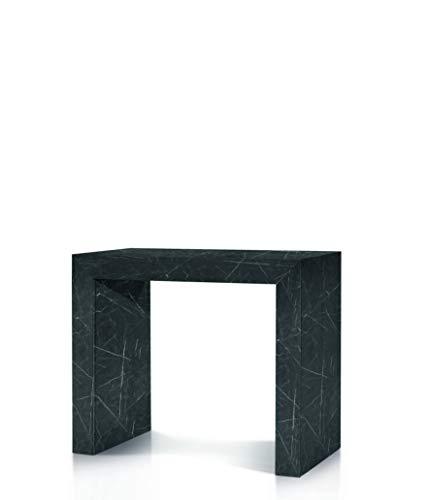 Fashion commerce consolle fc1685, legno, marmo nero, 45x90