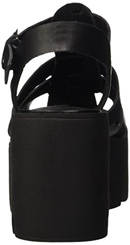 Windsor Smith Fluffy Leather, Scarpe Col Tacco con Cinturino a T Donna Nero