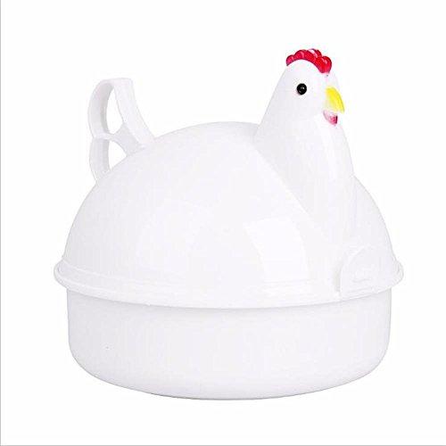 Zhfabss Gedämpfter Eierofen Mikrowelle Eierkocher Ei Kochen 4 Loch Eier Kessel Wilderer und Omelette-Hersteller Für Alle Haushalts Küchenutensilien Geeignet