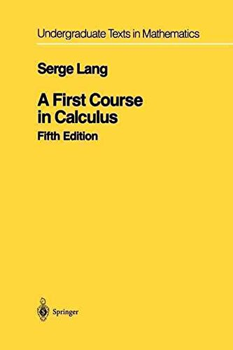 [First Course in Calculus] (By: Serge Lang) [published: September, 2012]