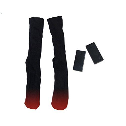 Baumwolle Socken Wandern (OUNONA Beheizbare Socken Baumwolle Socken mit Batterie für Winter Sport Angeln Wandern Skifahren)