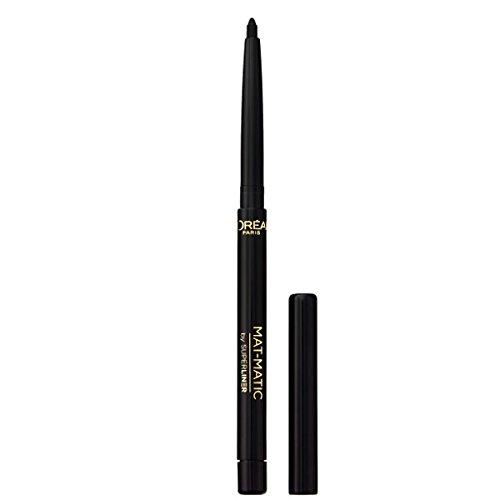 L\'Oréal Paris Super Liner Mat Matic, Ultra Black - präziser Eyeliner mit speziell angereicherten Mikro-Gel Pigmenten - wasserfest & bis zu 12h Halt! - für ein intensives, mattes Finish, 1er Pack