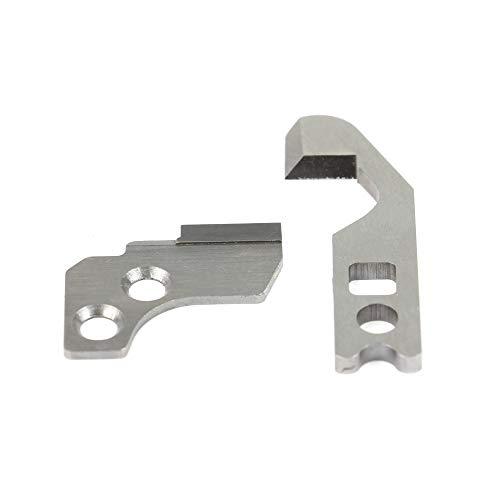 Messersatz (1x Obermesser und 1x Untermesser) passend für viele Overlock-Nähmaschinen von W6 (454D, N444), Janome, Privileg. -