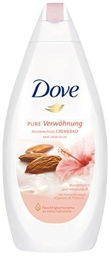 Dove Reichhaltiges Cremebad Pure Verwöhnung Mandelmilch & Hibiskusduft, 3er Pack (3 x 750 ml) (Intensive Pflege Dove)