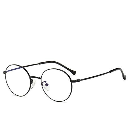 Shiduoli Retro Brillengestell Nicht verschreibungspflichtige Brillen für Frauen Männer Computer Lesebrille (Color : Black)