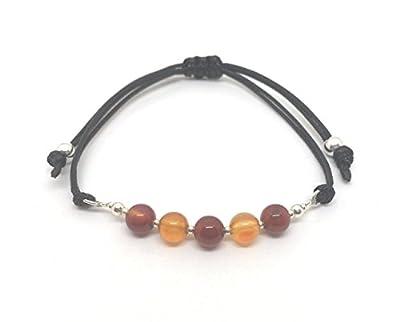 Bracelet Chakra Sacré en Argent Sterling et Pierres Semi-Précieuses, Perle de 6 mm, Unisexe, Fait à la Main par Nauta