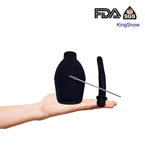 KingSnow Premium Klistier – inklusive Reinigungsbürste - 310 ml – medizinische Analdusche zur Darmreinigung – optimale Klistierspritze für Männer und Frauen (310 ML)