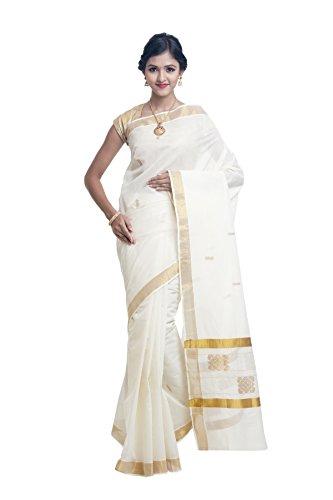 SUDARSHAN NEW DESIGNER COTTON SAREE-White-AJS1037-VP-Cotton (Com Sari Saree)