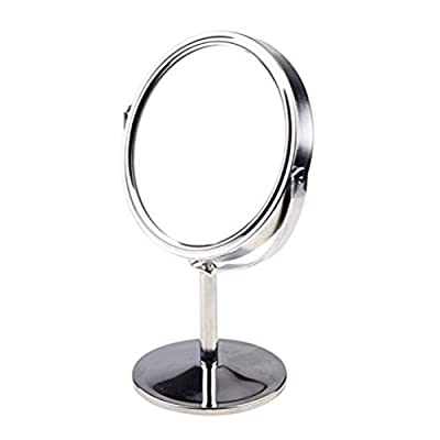 Frcolor Makeup Mirror Double Sided Magnifying Table Mirror Round Rotary Desk Mirror - low-cost UK light shop.