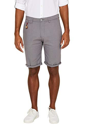 Perlen Baumwolle Shorts (ESPRIT Herren 039EE2C004 Shorts, Grau (Grey 030), W34(Herstellergröße: 34))