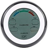 fgyhtyjuu Digital termómetro higrómetro ° C / ° F Temperatura Humedad Meter MAX Min Valor de Tendencia Display