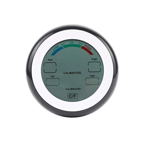Preisvergleich Produktbild shangjunol Digital-Thermometer-Hygrometer ° C / ° F Temperatur- und Feuchtigkeitsmessgerät Max Min Wert Trendanzeige