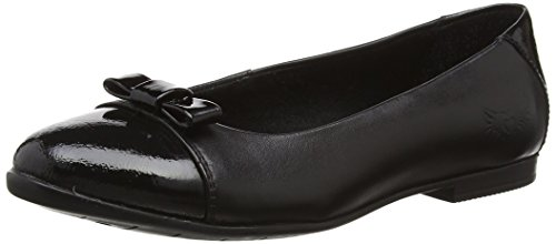 Start-rite Girls' Isla Ballet Flats, Black (Black/Black Patent), 5.5 UK 39 EU