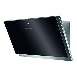 AEG DVB5960HG Kopffreie Wand-Dunstabzugshaube / Abluft oder Umluft / 90cm / Schwarz / Hob²Hood / SilenceTech / max. 370 m³/h / min. 69 - max. 77 dB(A) / Touch-Bedienung