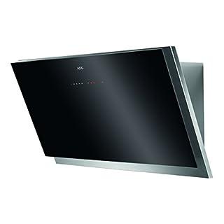 AEG DVB5960HG Kopffreie Wand-Dunstabzugshaube / Abluft oder Umluft / 90cm / Schwarz / Hob²Hood / SilenceTech / max. 370 m³/h / min. 69 – max. 77 dB(A) / Touch-Bedienung
