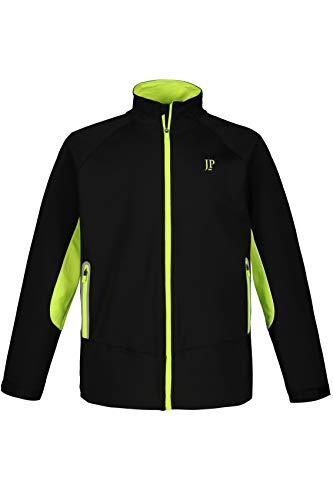 JP 1880 Herren große Größen bis 7XL, Fahrrad-Jacke, superleicht und zweifarbig, 3 Taschen mit Reflektor-Band, Stehkragen und Zipper, hinten längerer Saum, schwarz 7XL 720230 10-7XL