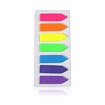 Pyhot 1680 Pieces Index Tabs Flags, 12 Sets Neon Page Markers Bookmarks Text Highlighter Strips, Sticky Notes 12 X 45 Mm 2