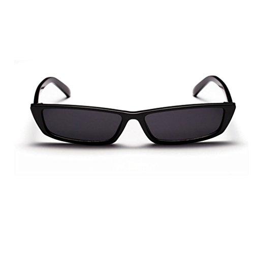 YANJING Europa und die Vereinigten Staaten Sonnenbrille Street Shot konkav Brille Netzwerk rot Verschluss Segel weiß Retro Box Sonnenbrille CUIYAN (Farbe : Schwarz)