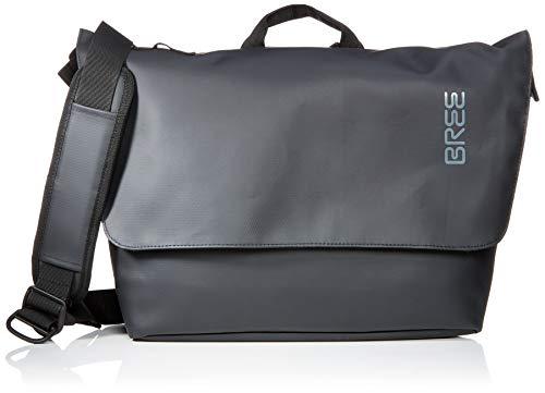 BREE Collection Unisex-Erwachsene Punch 731, Messenger Umhängetasche, Schwarz (Black), 16x30x34 cm