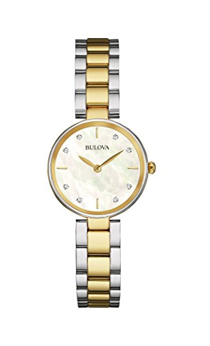Bulova donna Diamond 98P146argento in acciaio inossidabile al quarzo moda orologio