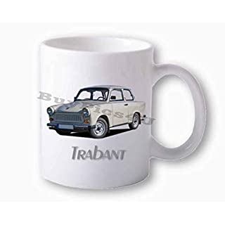 BuyPics4U Fototasse weiß Trabant 601 weiß vorn
