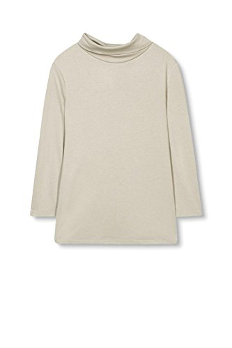 ESPRIT Collection Damen Langarmshirt Grau (Grey 030)